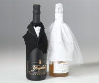Bride & Groom Bottle Cover Set